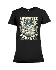 Shirt Biker Adventure Before Dementia Old Man Premium Fit Ladies Tee tile