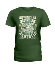 Shirt Biker Adventure Before Dementia Old Man Ladies T-Shirt tile