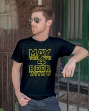 May the 4th Beer with u Funny Classic T-Shirt lifestyle-mens-crewneck-front-2