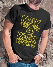 May the 4th Beer with u Funny Classic T-Shirt lifestyle-mens-crewneck-front-4