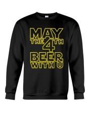 May the 4th Beer with u Funny Crewneck Sweatshirt thumbnail