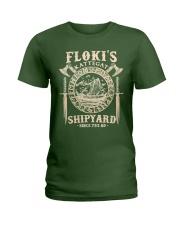 Flokis Shipyard Kattegat Viking Ladies T-Shirt thumbnail