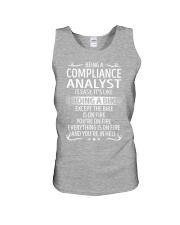 Compliance Analyst Unisex Tank thumbnail