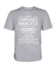 Compliance Analyst V-Neck T-Shirt thumbnail
