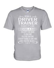 Driver Trainer V-Neck T-Shirt thumbnail