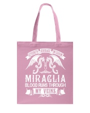 MIRAGLIA - Veins Name Shirts Tote Bag thumbnail