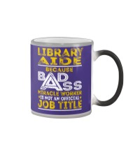 Library Aide - Miracle Worker Job Title Color Changing Mug thumbnail
