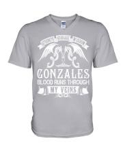 GONZALES - Veins Name Shirts V-Neck T-Shirt thumbnail