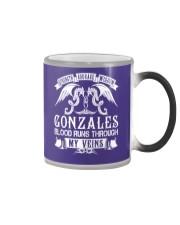 GONZALES - Veins Name Shirts Color Changing Mug thumbnail