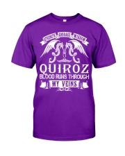 QUIROZ - Veins Name Shirts Classic T-Shirt thumbnail