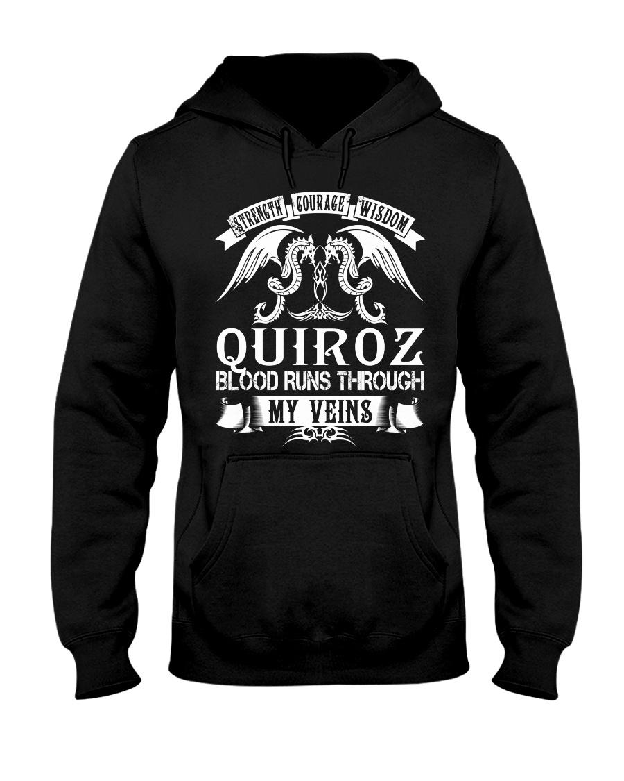 QUIROZ - Veins Name Shirts Hooded Sweatshirt