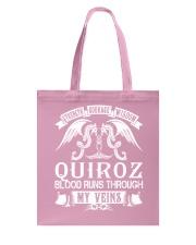 QUIROZ - Veins Name Shirts Tote Bag thumbnail