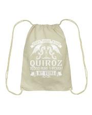 QUIROZ - Veins Name Shirts Drawstring Bag thumbnail