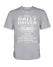 Rally Driver V-Neck T-Shirt thumbnail