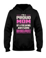Iron Worker Apprentice - Proud MOM Job Title Hooded Sweatshirt front