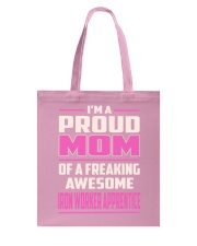 Iron Worker Apprentice - Proud MOM Job Title Tote Bag thumbnail