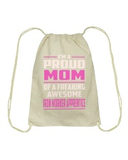 Iron Worker Apprentice - Proud MOM Job Title Drawstring Bag thumbnail