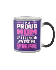 Iron Worker Apprentice - Proud MOM Job Title Color Changing Mug thumbnail