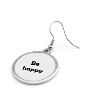 Be happy Circle Earrings aos-earring-circle-front-lifestyle-12
