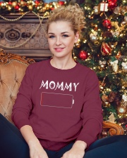 Mommy And Son Battery Charger Crewneck Sweatshirt lifestyle-holiday-sweater-front-2