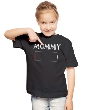 Mommy And Son Battery Charger Youth T-Shirt lifestyle-youth-tshirt-front-2