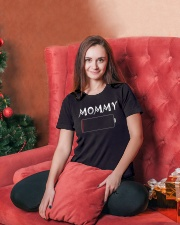 Mommy And Son Battery Charger Ladies T-Shirt lifestyle-holiday-womenscrewneck-front-2
