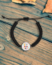 Mommy And Son Battery Charger Cord Circle Bracelet aos-bracelet-cord-front-lifestyle-4