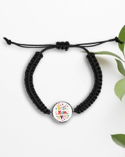 Mommy And Son Battery Charger Cord Circle Bracelet aos-bracelet-cord-front-lifestyle-7