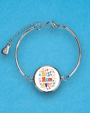 Mommy And Son Battery Charger Metallic Circle Bracelet aos-bracelet-metal-front-lifestyle-3