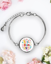 Mommy And Son Battery Charger Metallic Circle Bracelet aos-bracelet-metal-front-lifestyle-6