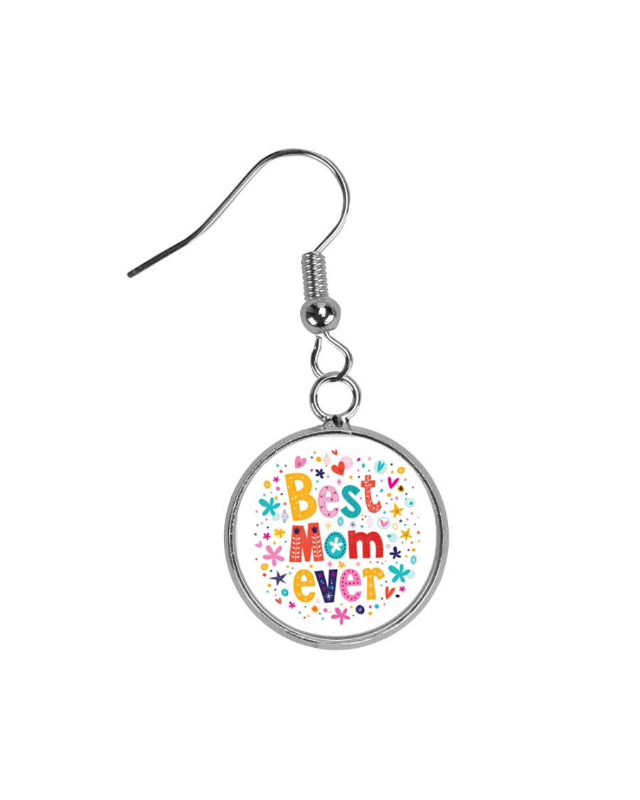 Mommy And Son Battery Charger Circle Earrings