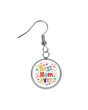 Mommy And Son Battery Charger Circle Earrings front