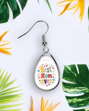 Mommy And Son Battery Charger Teardrop Earrings aos-earring-teardrop-front-lifestyle-9