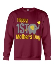 first Mother's Day Elephant 2018 Crewneck Sweatshirt thumbnail