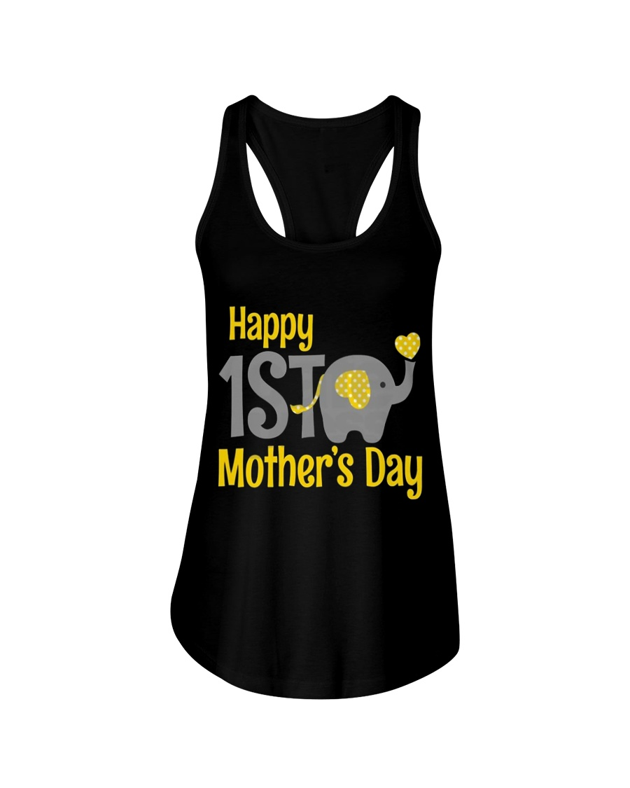 first Mother's Day Elephant 2018 Ladies Flowy Tank