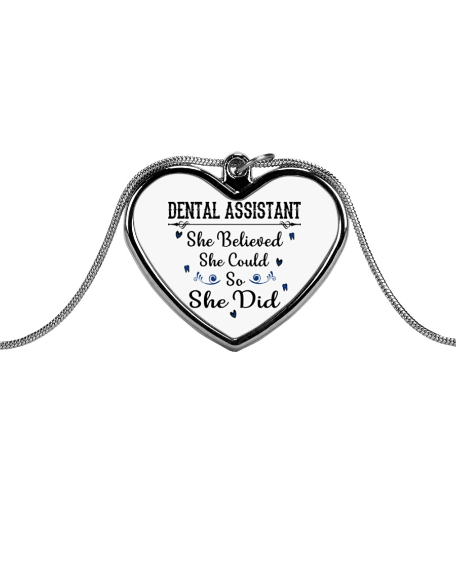 FOR DENTAL ASSISTANTS Metallic Heart Necklace