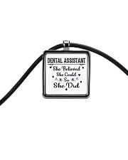 FOR DENTAL ASSISTANTS Cord Rectangle Necklace thumbnail