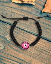 EVERYDAY I'M SUCTIONING Cord Circle Bracelet aos-bracelet-cord-front-lifestyle-4