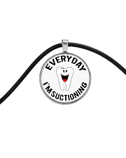 EVERYDAY I'M SUCTIONING Cord Circle Necklace thumbnail