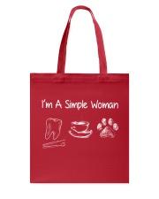 I'm a simple woman Tote Bag thumbnail