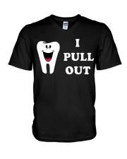 I Pull Out V-Neck T-Shirt thumbnail