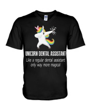 Unicorn Dental Assistants V-Neck T-Shirt thumbnail