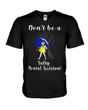 Don't be a Salty DENTAL ASSISTANT V-Neck T-Shirt thumbnail