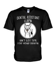 DENTAL ASSISTANT LLAMA V-Neck T-Shirt thumbnail