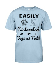 Easily Distracted By Dogs And Teeth Classic T-Shirt thumbnail