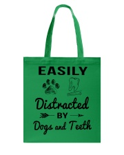 Easily Distracted By Dogs And Teeth Tote Bag thumbnail