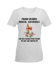 Proud Retired DENTAL HYGIENIST Ladies T-Shirt women-premium-crewneck-shirt-front