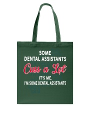 DENTAL ASSISTANTS Cuss a Lot Tote Bag thumbnail