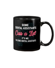 DENTAL ASSISTANTS Cuss a Lot Mug tile