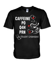 CAFFEINE PO Q4H PRN V-Neck T-Shirt thumbnail